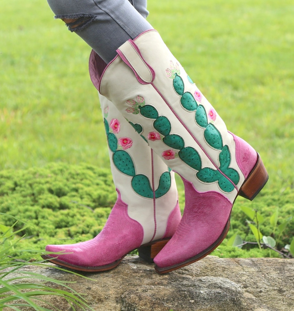 Junk Gypsy by Lane Hard to Handle Pink Boots JG0012B Image