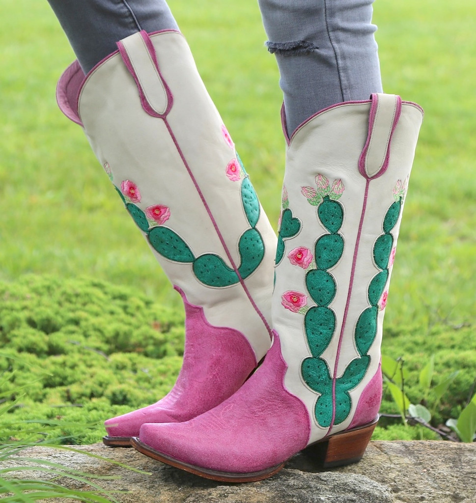 Junk Gypsy by Lane Hard to Handle Pink Boots JG0012B Side