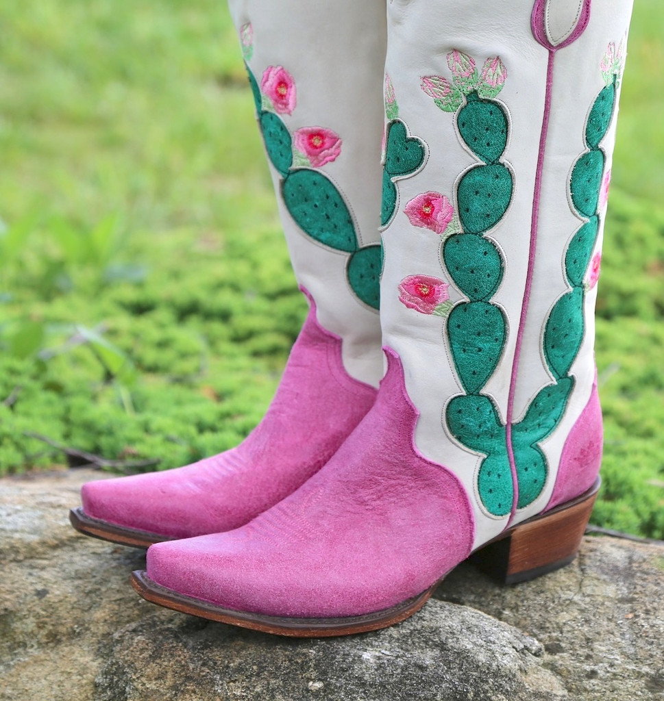 Junk Gypsy by Lane Hard to Handle Pink Boots JG0012B Toe