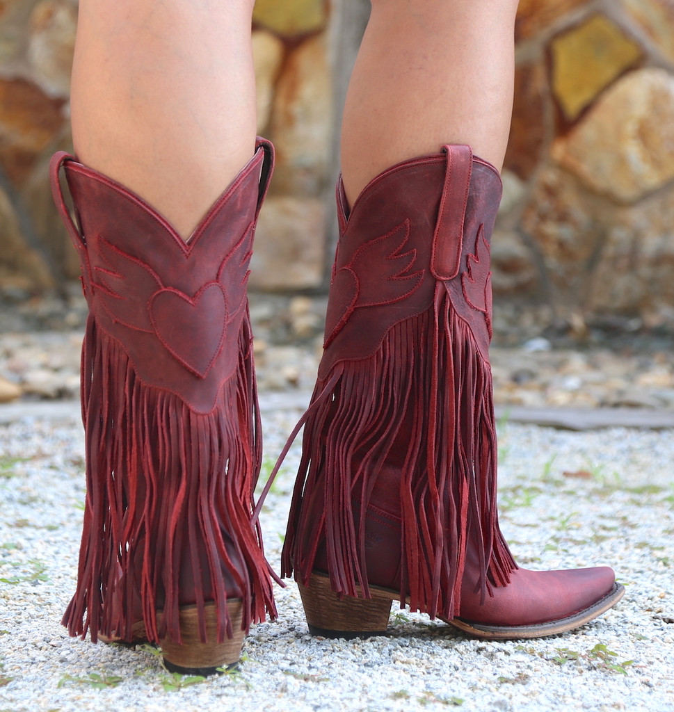 Junk Gypsy by Lane Dreamer Red Boots JG0004E Heel