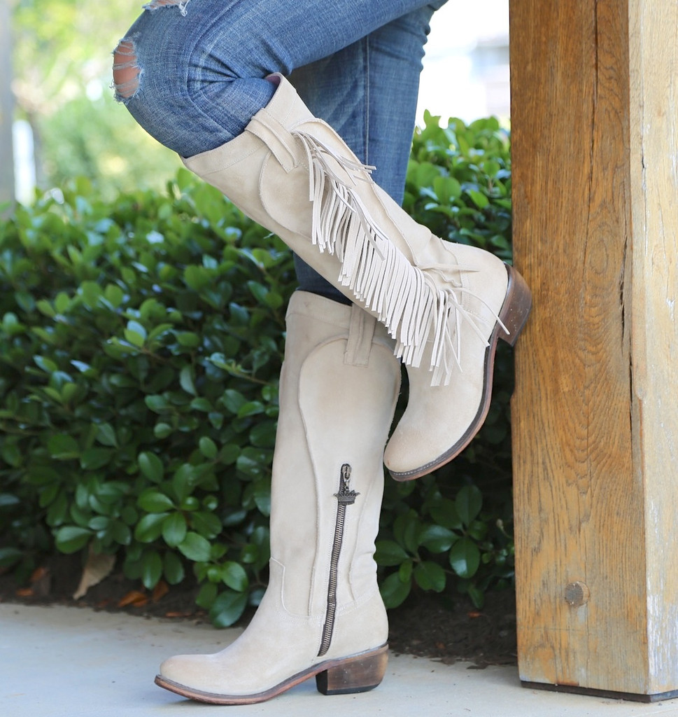 Junk Gypsy by Lane Texas Tumbleweed Bone Boots JG0009D Photo