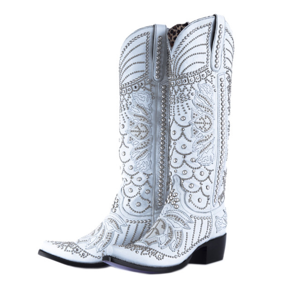 Kippys by Lane Boots Victoria Pearl White - KP0007A Main Image