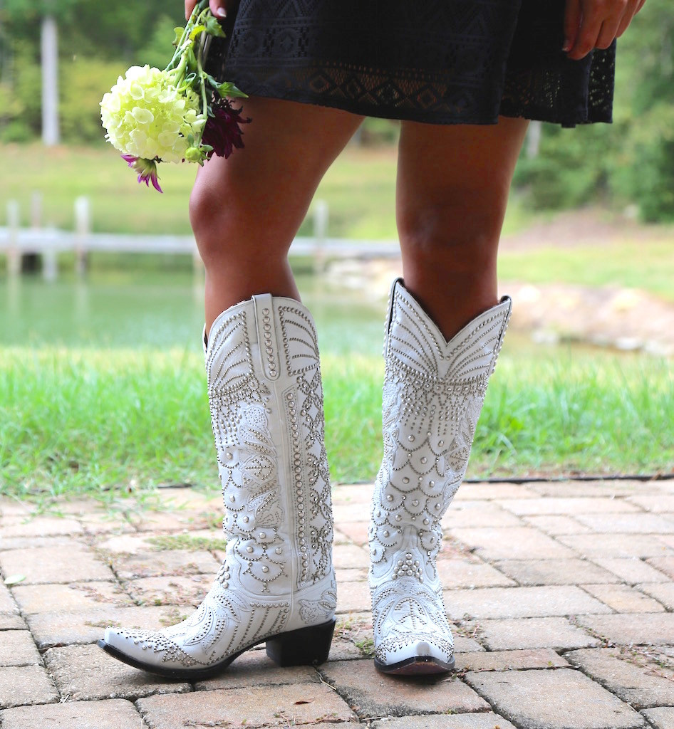 Kippys by Lane Boots Victoria Pearl White - KP0007A Front