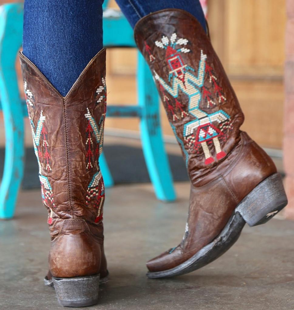 Old Gringo Sapache Brass Boots L2046-3 Heel