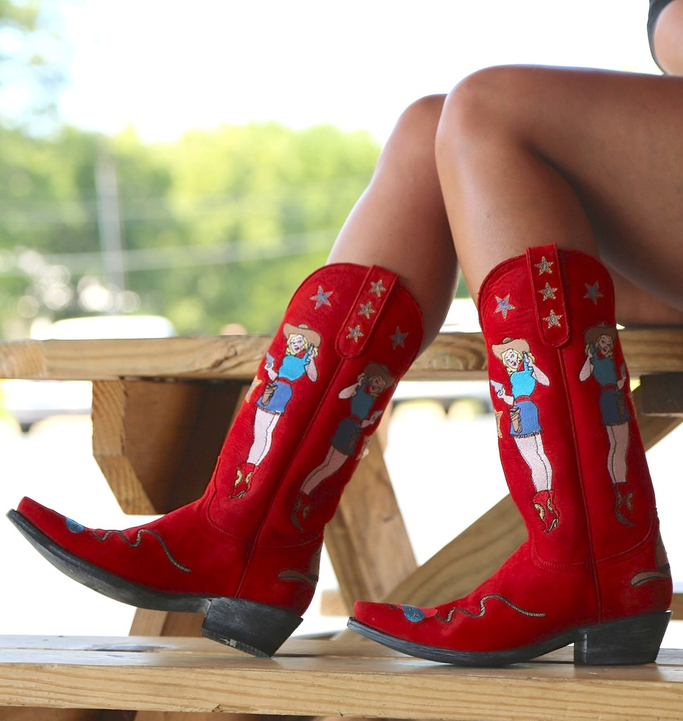 Old Gringo Cowgirl Guns Red L2458-2 Image