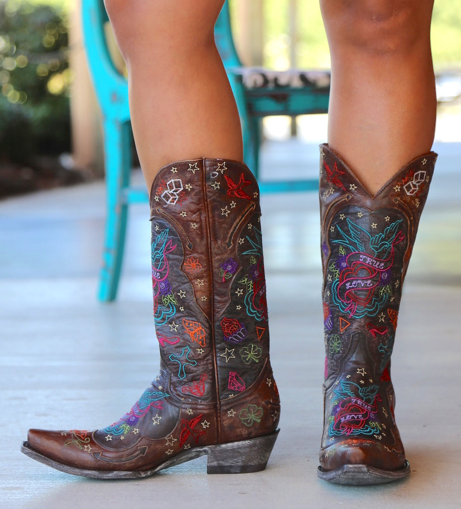 Old Gringo True Love Chocolate Boots L2467-1 Image