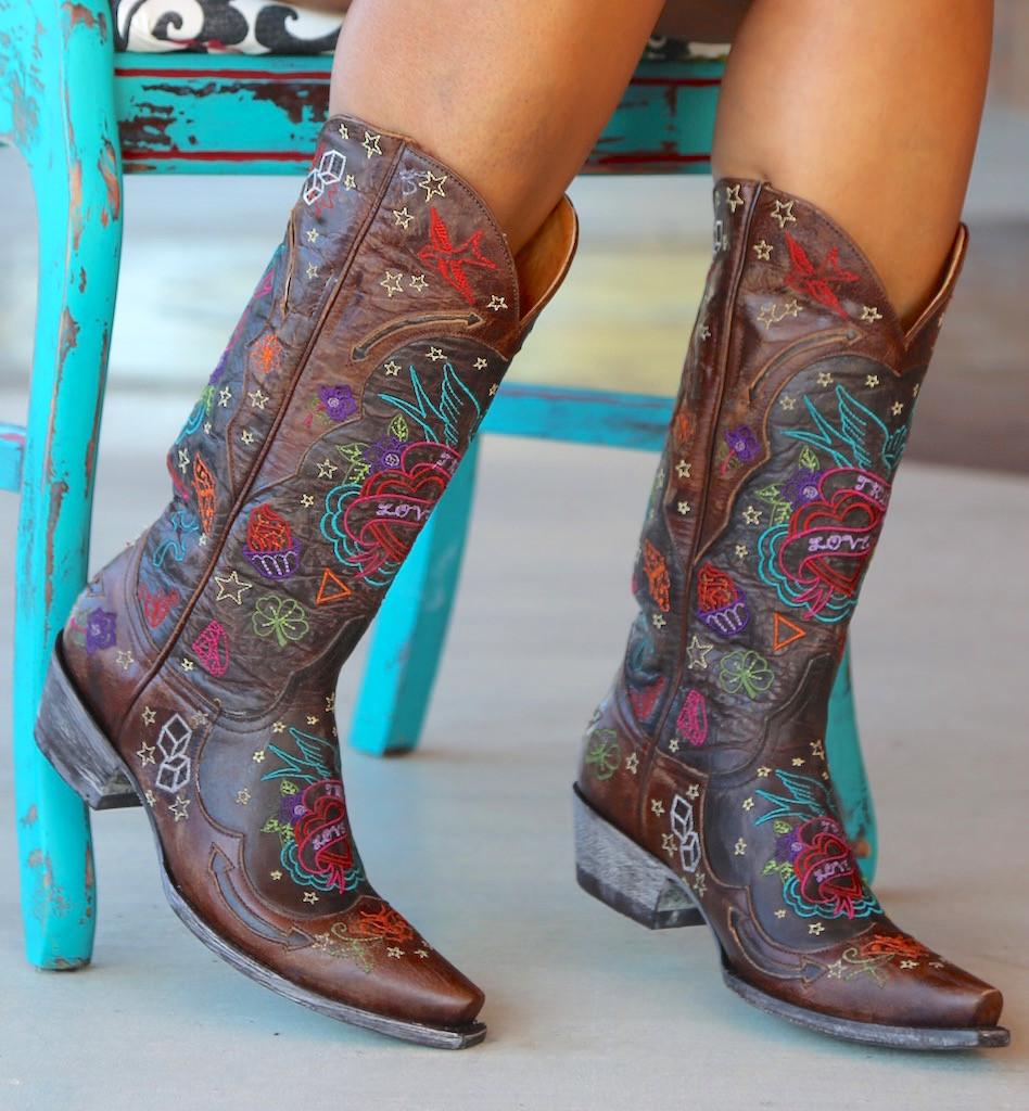 Old Gringo True Love Chocolate Boots L2467-1 Toe