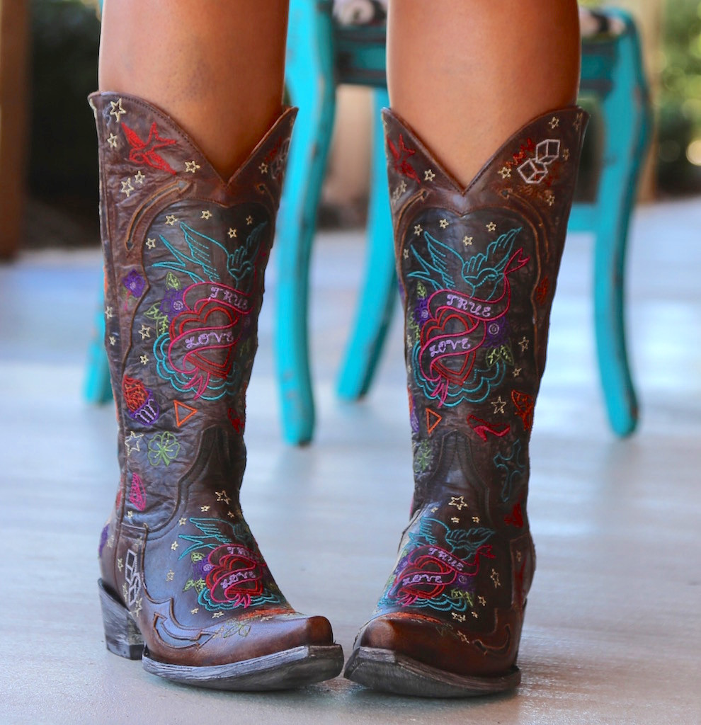Old Gringo True Love Chocolate Boots L2467-1 Picture