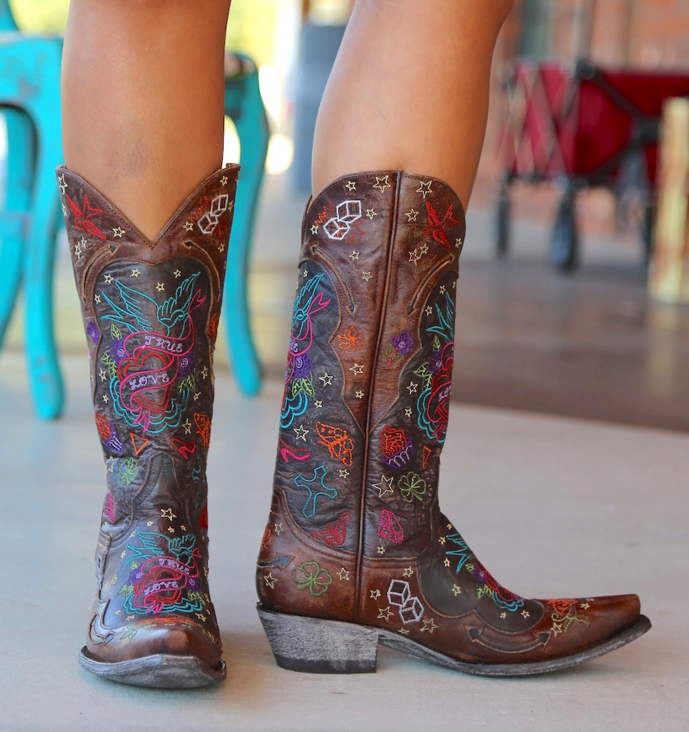 Old Gringo True Love Chocolate Boots L2467-1 Side
