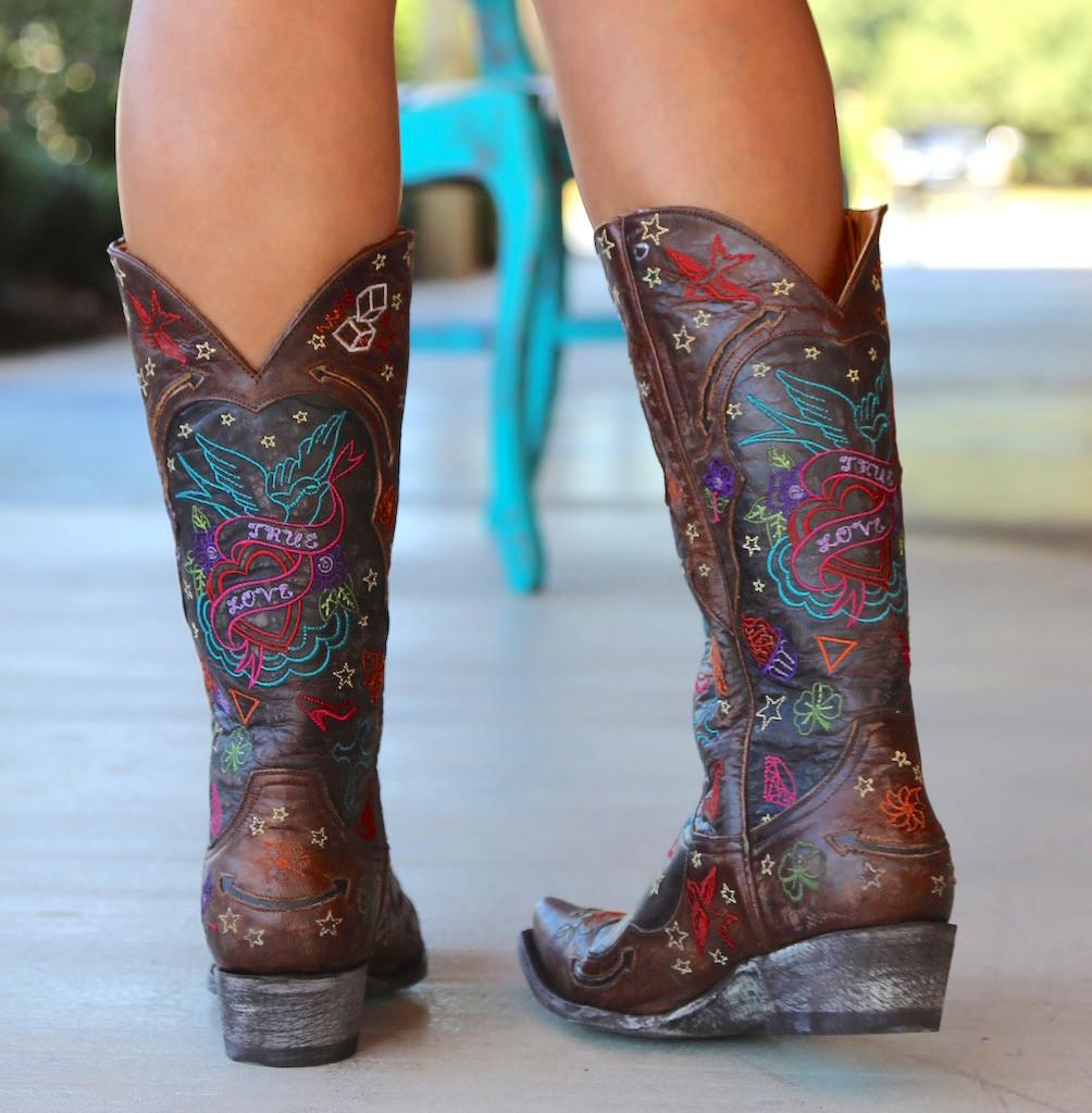 Old Gringo True Love Chocolate Boots L2467-1 Heel
