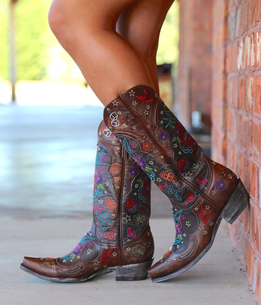 Old Gringo True Love Chocolate Boots L2467-1 Wall