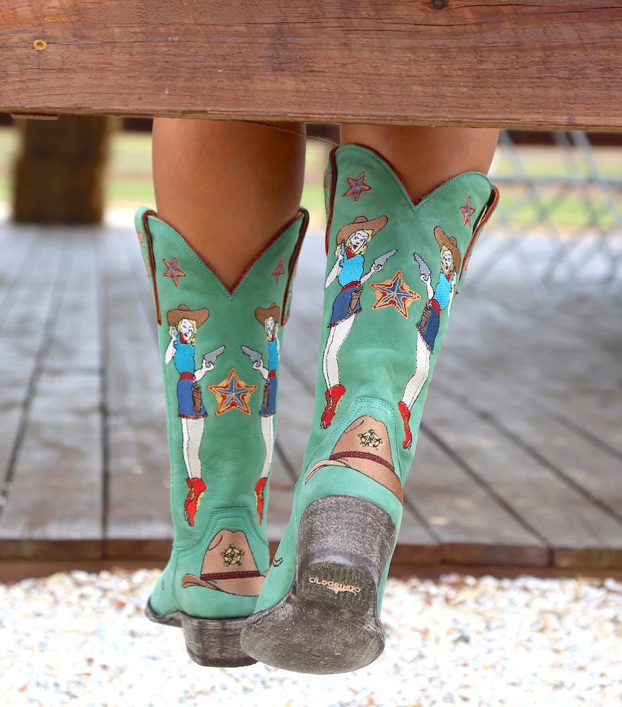 Old Gringo Cowgirl Guns Turquoise Boots L2458-3 Photo