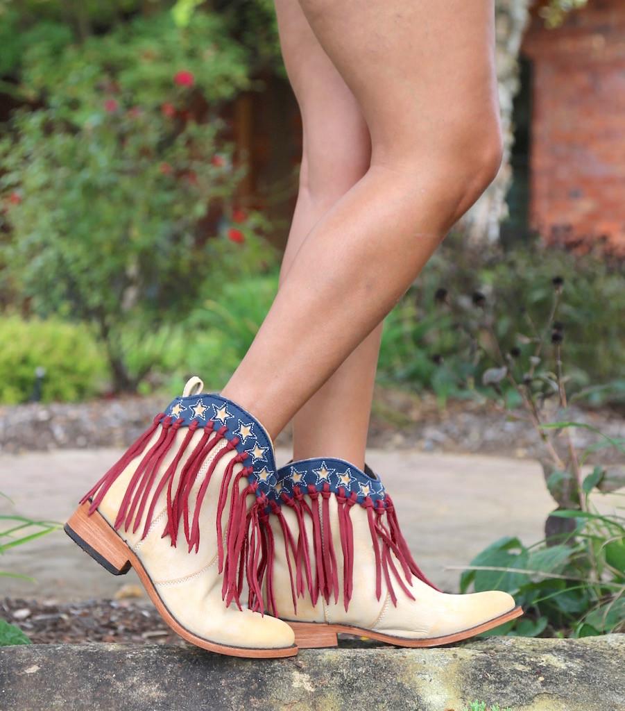 Liberty Black USA Shortie Vintage Beige Boots LB713304 Picture
