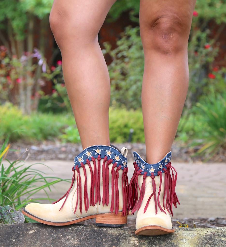 Liberty Black USA Shortie Vintage Beige Boots LB713304 Photo