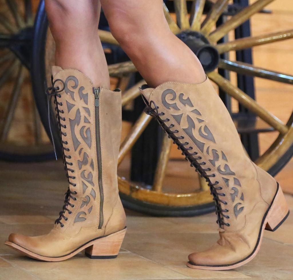 Liberty Black America Tan Lace Up Boot LB71165 Side