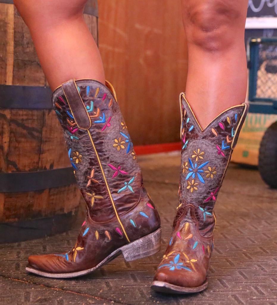 Old Gringo Namida Brass Boots L2629-1 Heel
