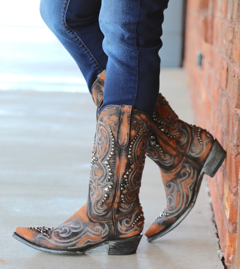 Old Gringo Dolce Stud Shedron Boots L2643-2 Wall