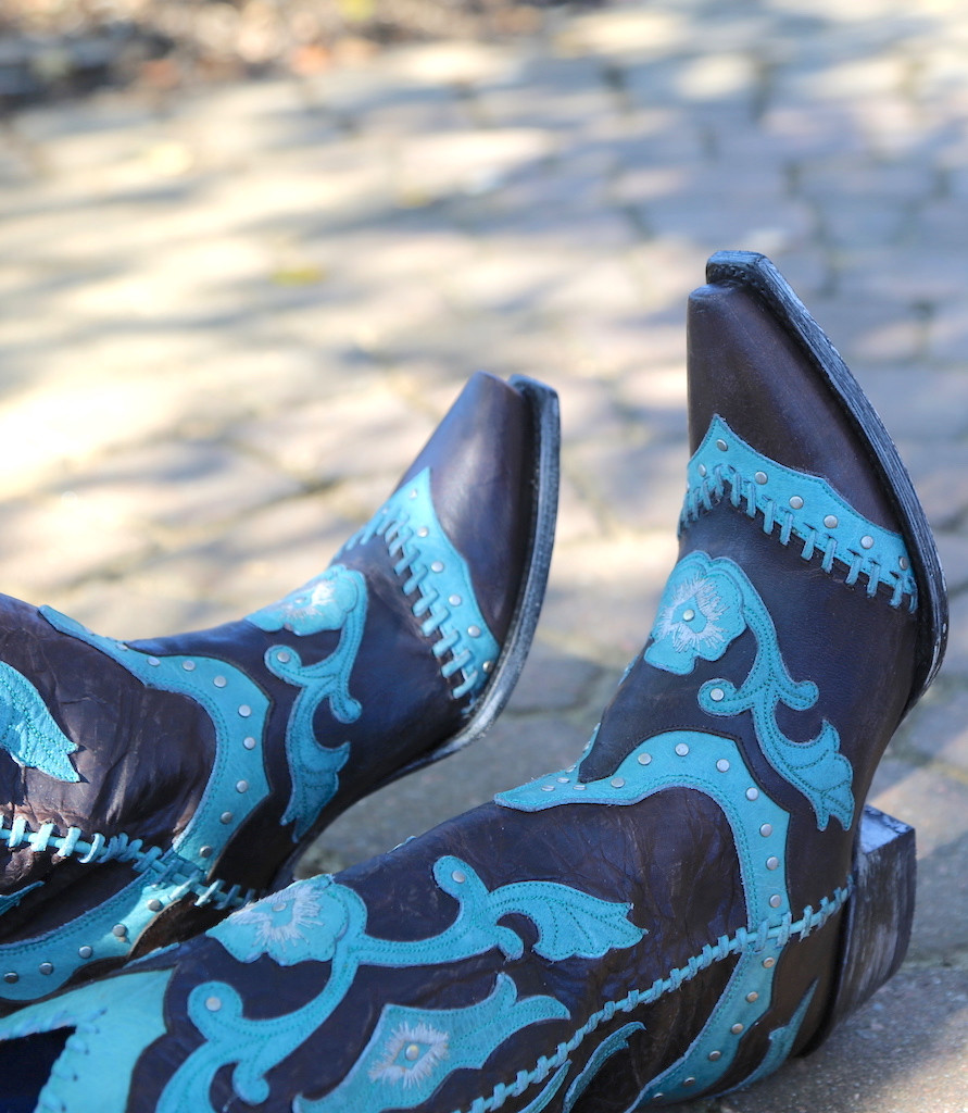 Yippee by Old Gringo Femi Aqua Chocolate Boots YL220-1 Image