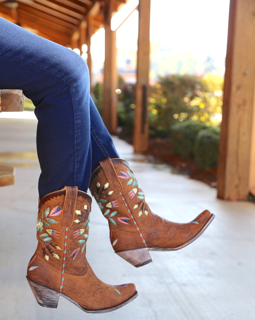 Yippee by Old Gringo Amitola Brass Boots YL188-8 Embroidery