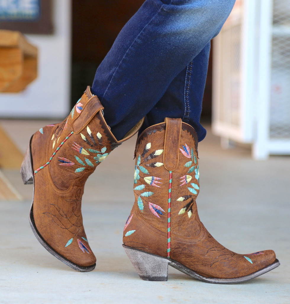 Yippee by Old Gringo Amitola Brass Boots YL188-8 Toe