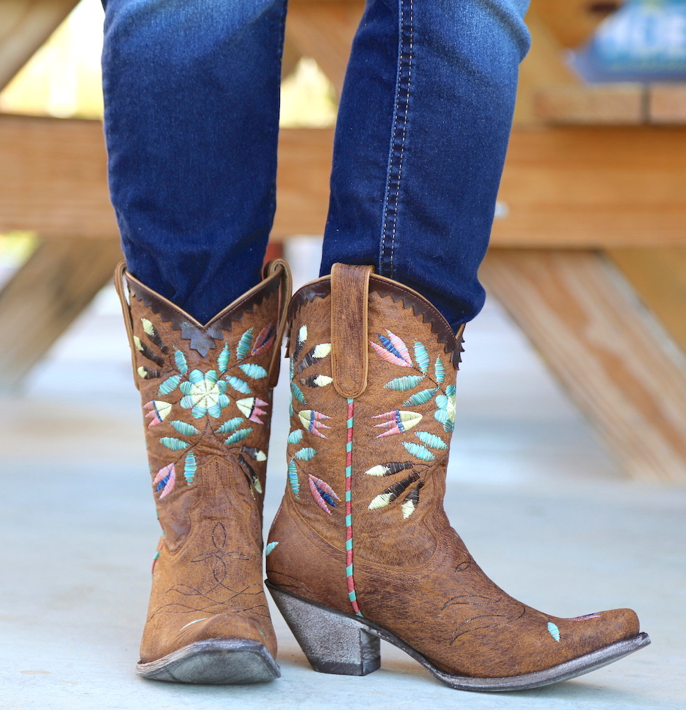 Yippee by Old Gringo Amitola Brass Boots YL188-8 Photo