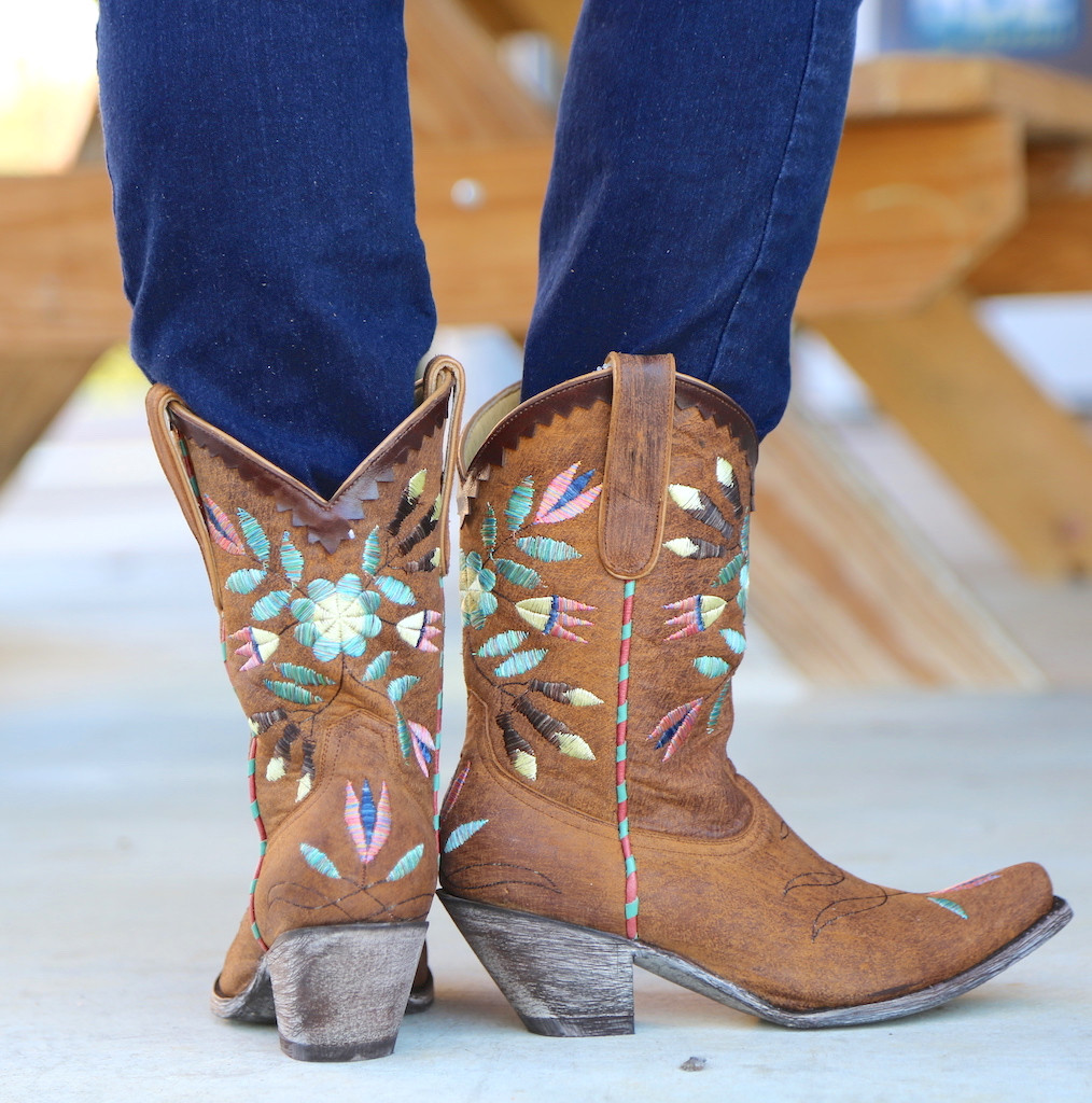 Yippee by Old Gringo Amitola Brass Boots YL188-8 Heel