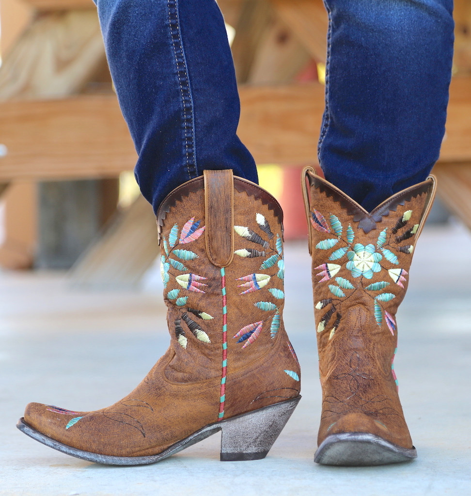 Yippee by Old Gringo Amitola Brass Boots YL188-8 Side