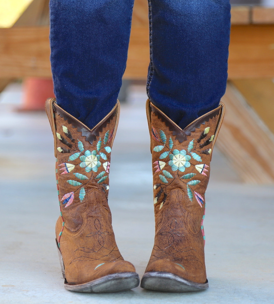 Yippee by Old Gringo Amitola Brass Boots YL188-8 Front