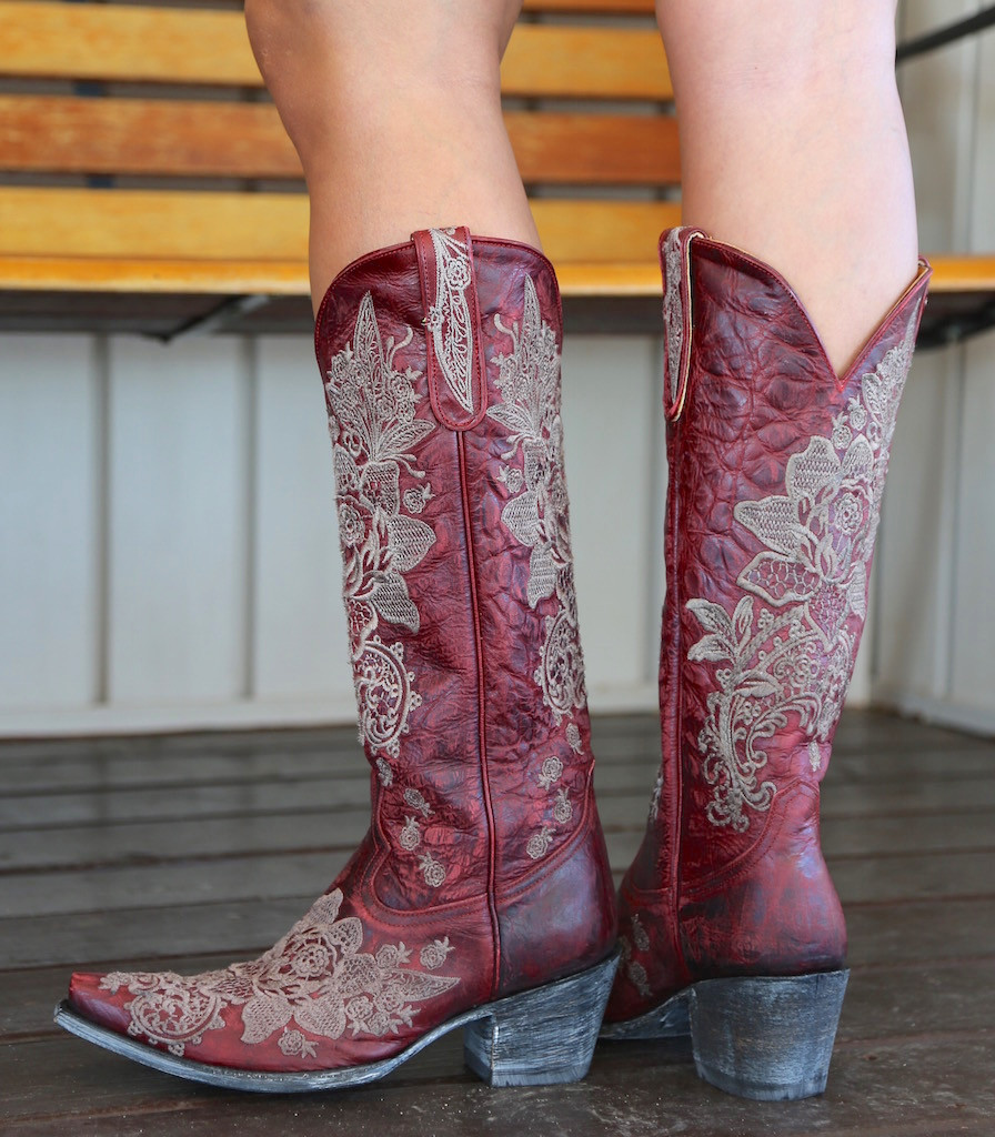 """Old Gringo Nicolette Red 15"""" Boots L2310-3 Picture"""