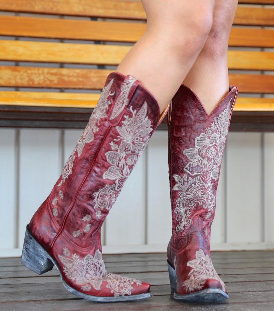 "Old Gringo Nicolette Red 15"" Boots L2310-3 Heel"