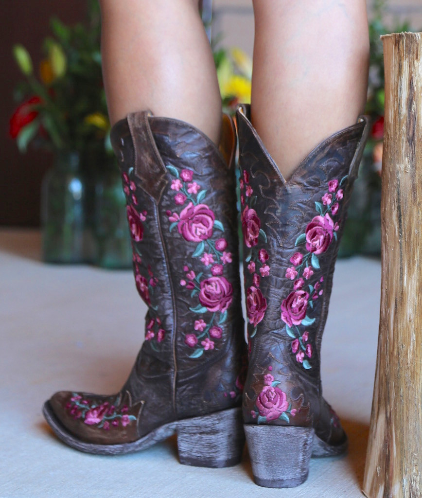 Old Gringo Martina Pink Chocolate Boots L2468-2 Back