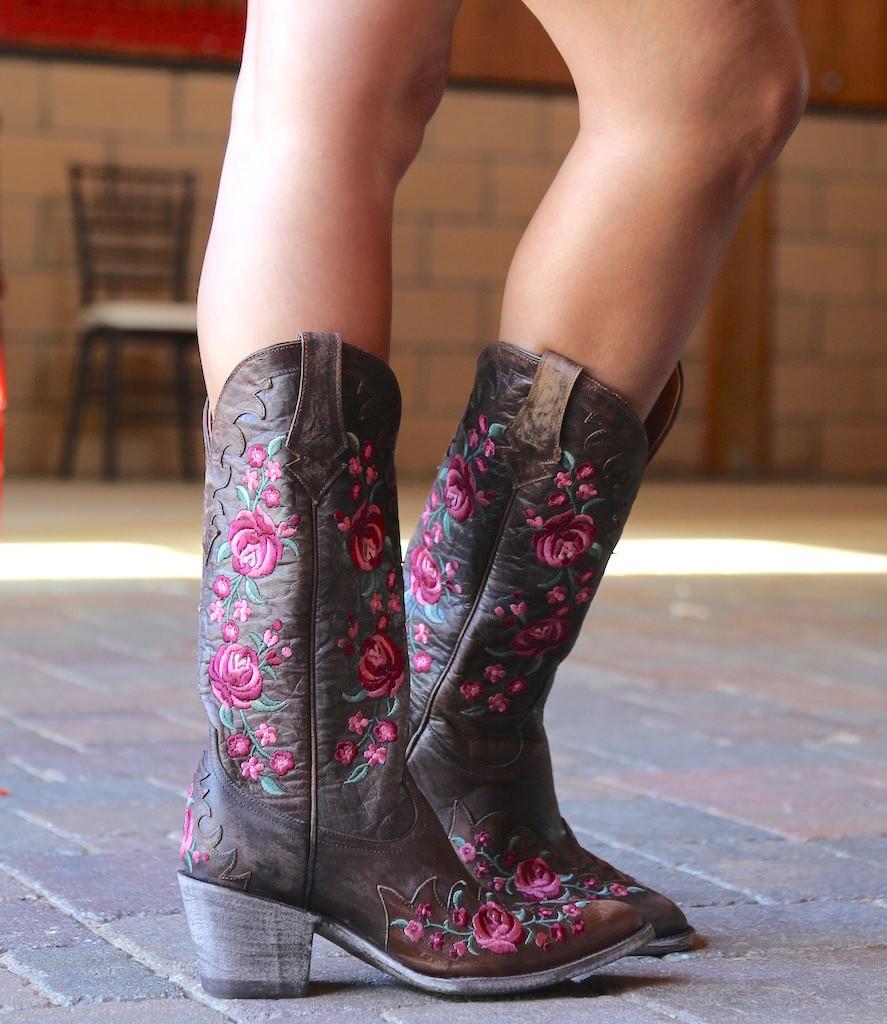 Old Gringo Martina Pink Chocolate Boots L2468-2 Heel
