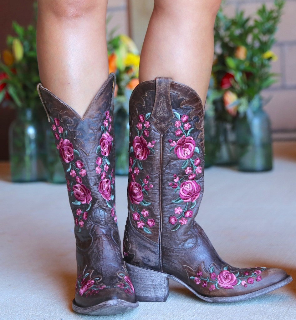 Old Gringo Martina Pink Chocolate Boots L2468-2 Embroidery