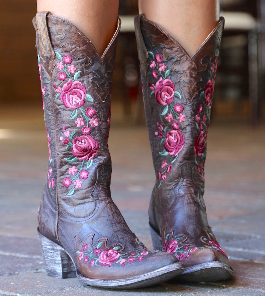Old Gringo Martina Pink Chocolate Boots L2468-2 Image