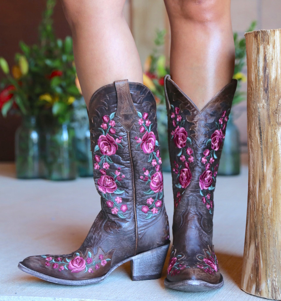Old Gringo Martina Pink Chocolate Boots L2468-2 Front