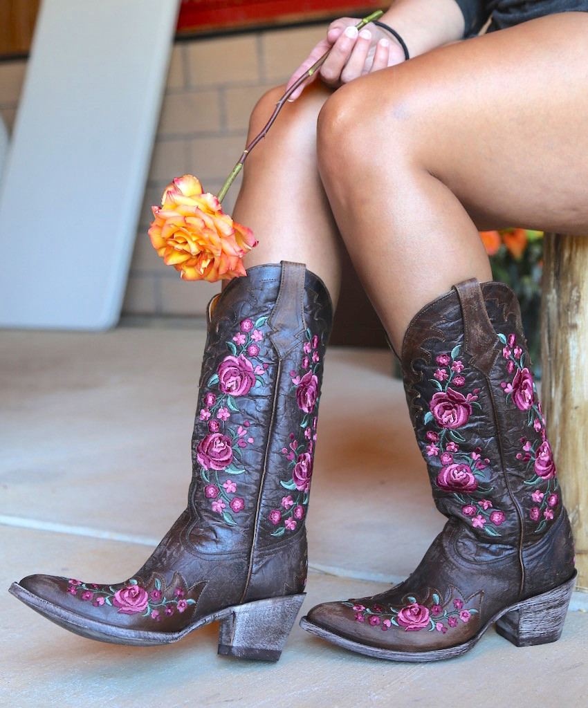 Old Gringo Martina Pink Chocolate Boots L2468-2 Photo