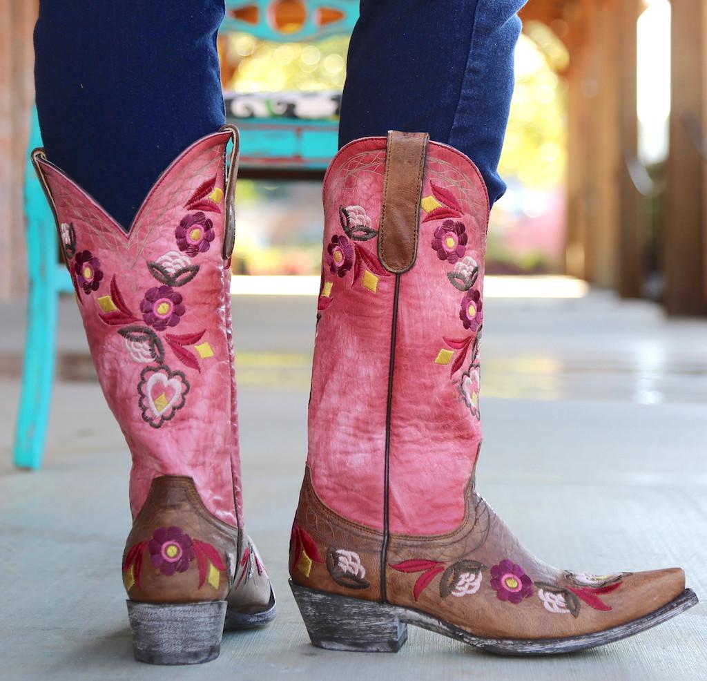 Old Gringo Onawa Oryx Pink Boots L2710-2 Heel