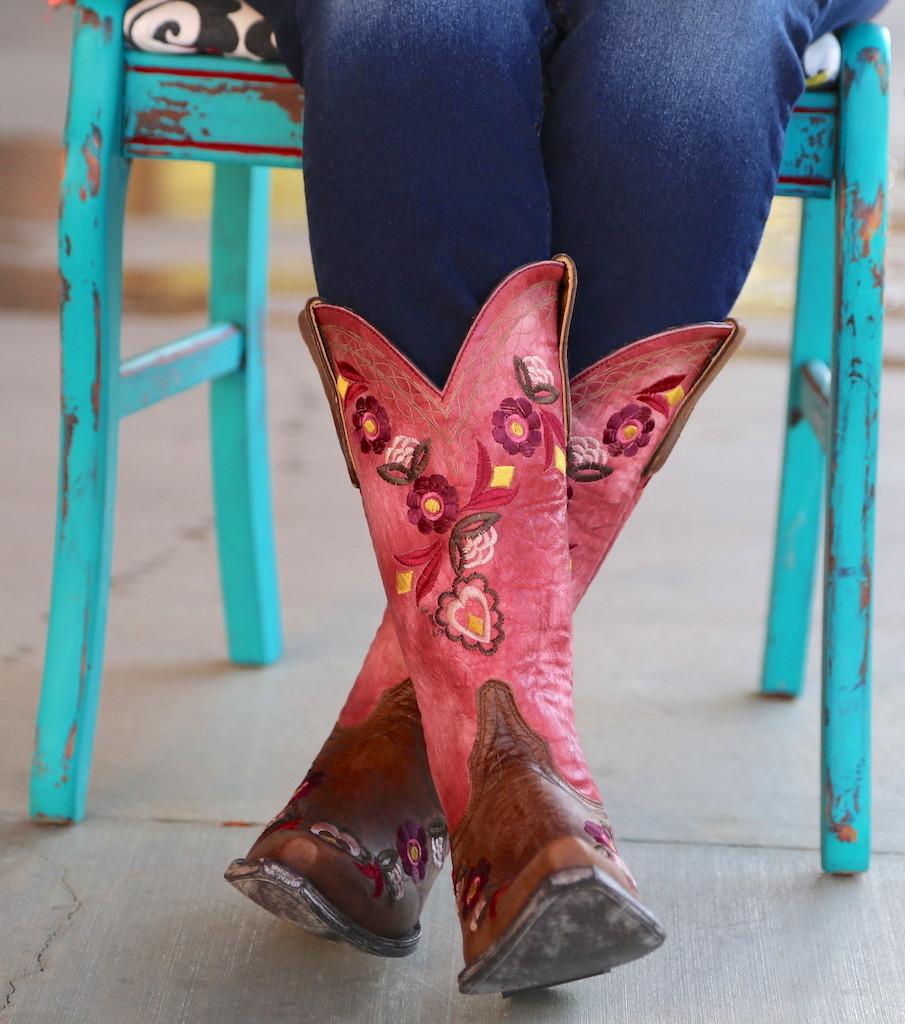 Old Gringo Onawa Oryx Pink Boots L2710-2 Photo