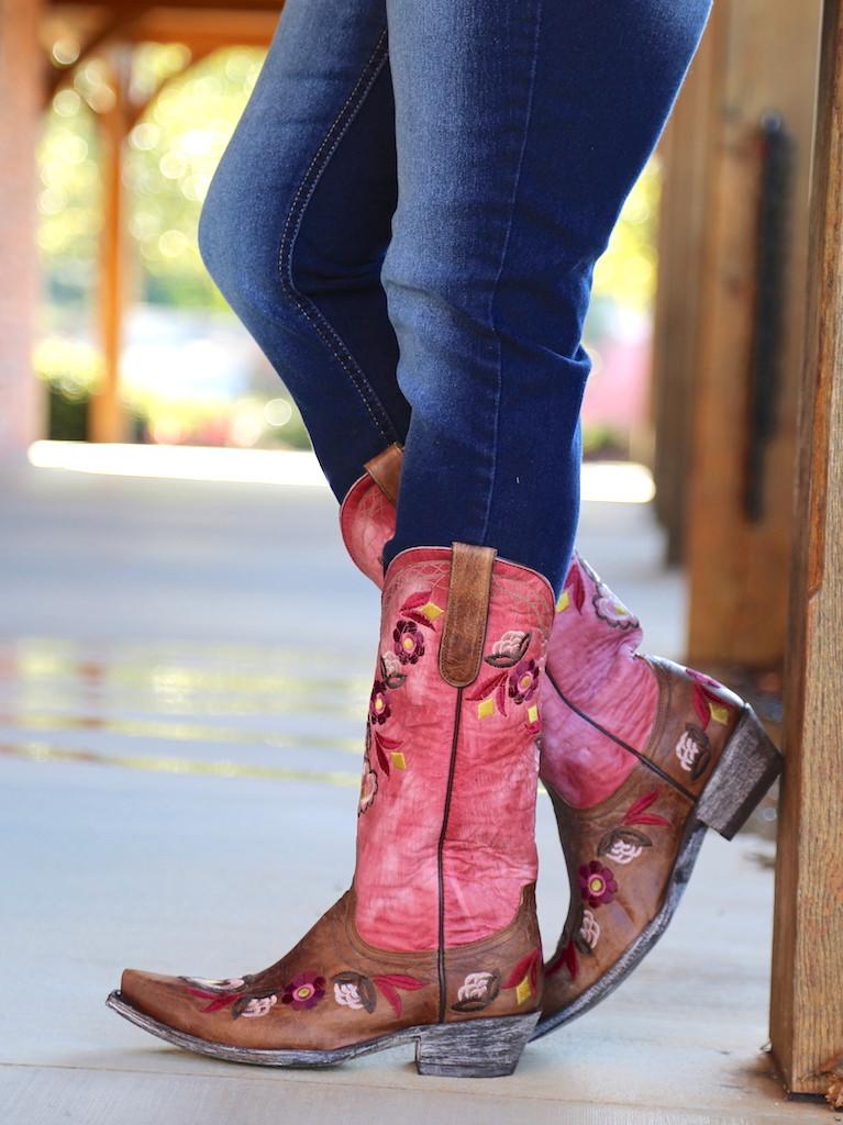 Old Gringo Onawa Oryx Pink Boots L2710-2 Side