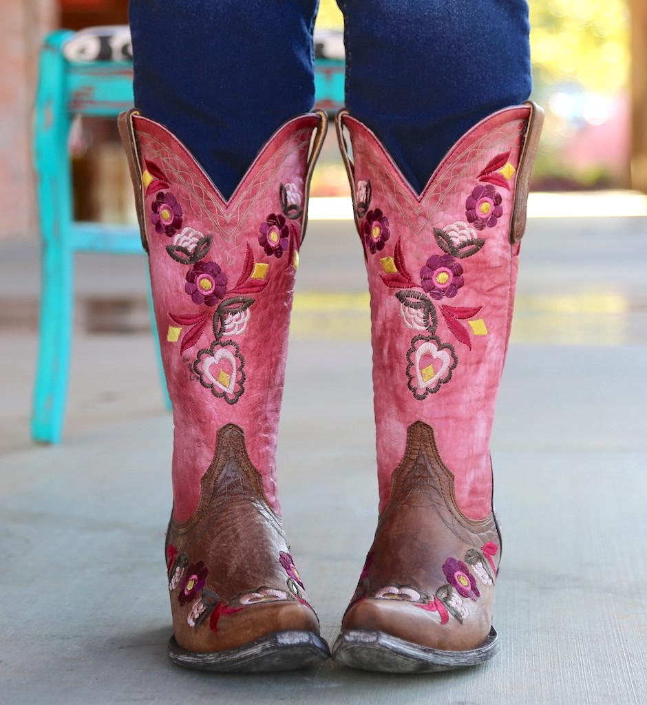 Old Gringo Onawa Oryx Pink Boots L2710-2 Toe