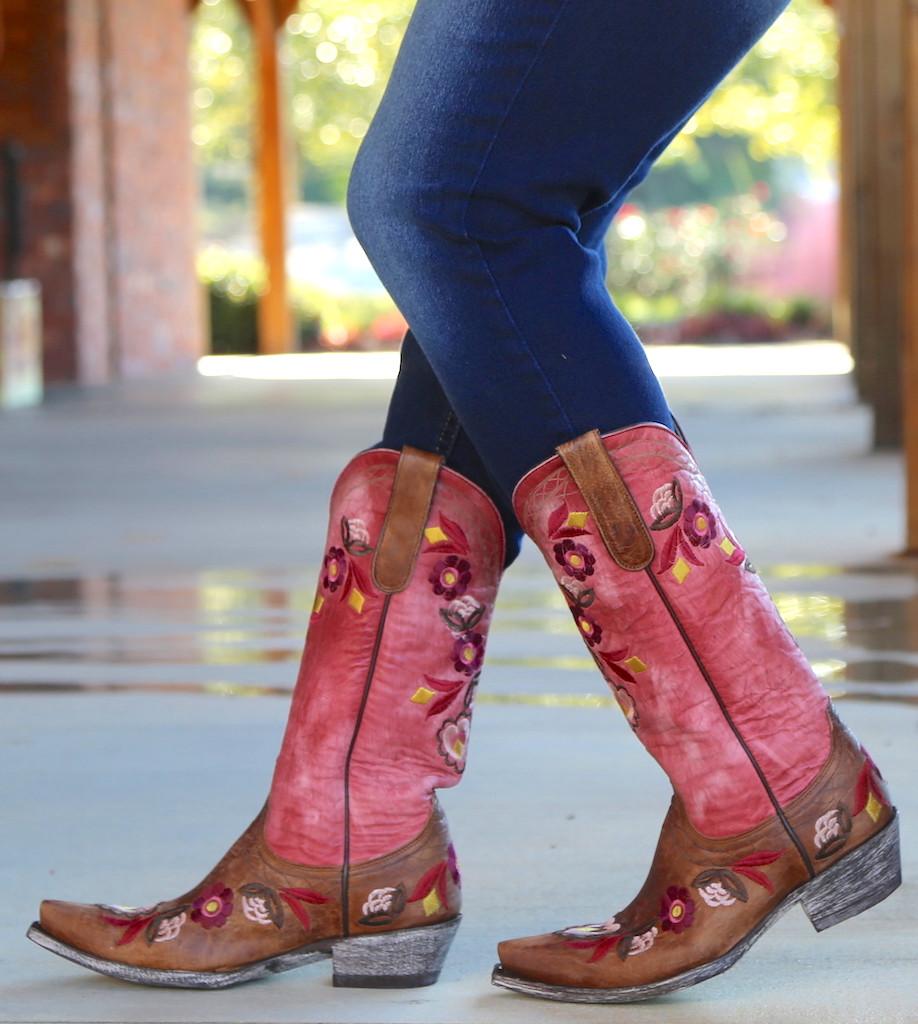 Old Gringo Onawa Oryx Pink Boots L2710-2 Image