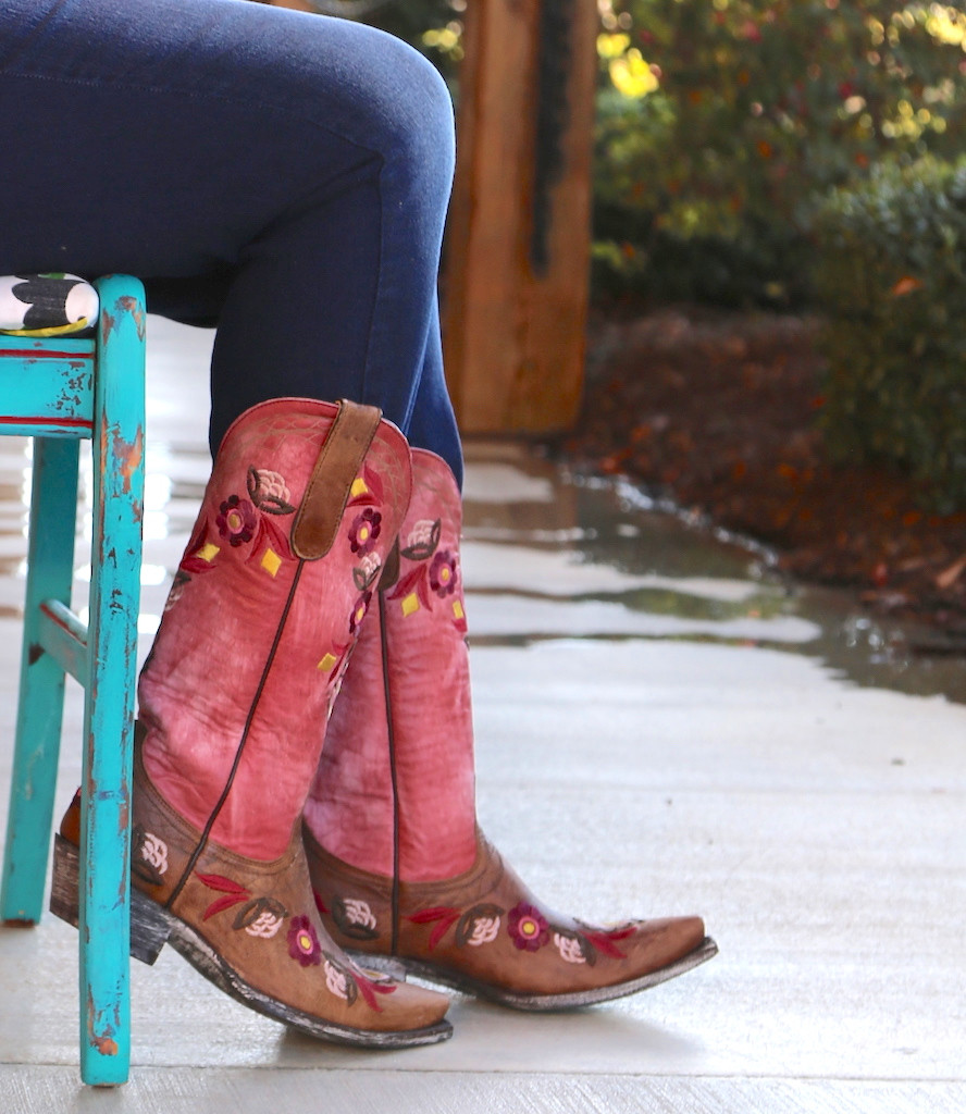 Old Gringo Onawa Oryx Pink Boots L2710-2 Chair