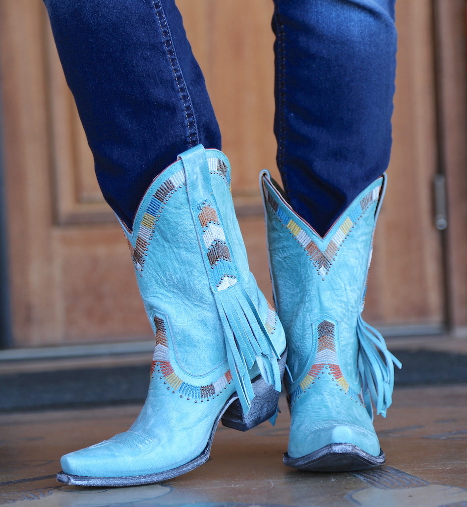 Yippee by Old Gringo Persefone Blue Boots YL230-2 Heel