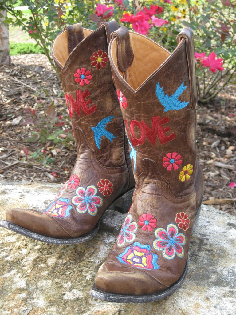Old Gringo Checruda Brass Cowgirl Boots Front Picture