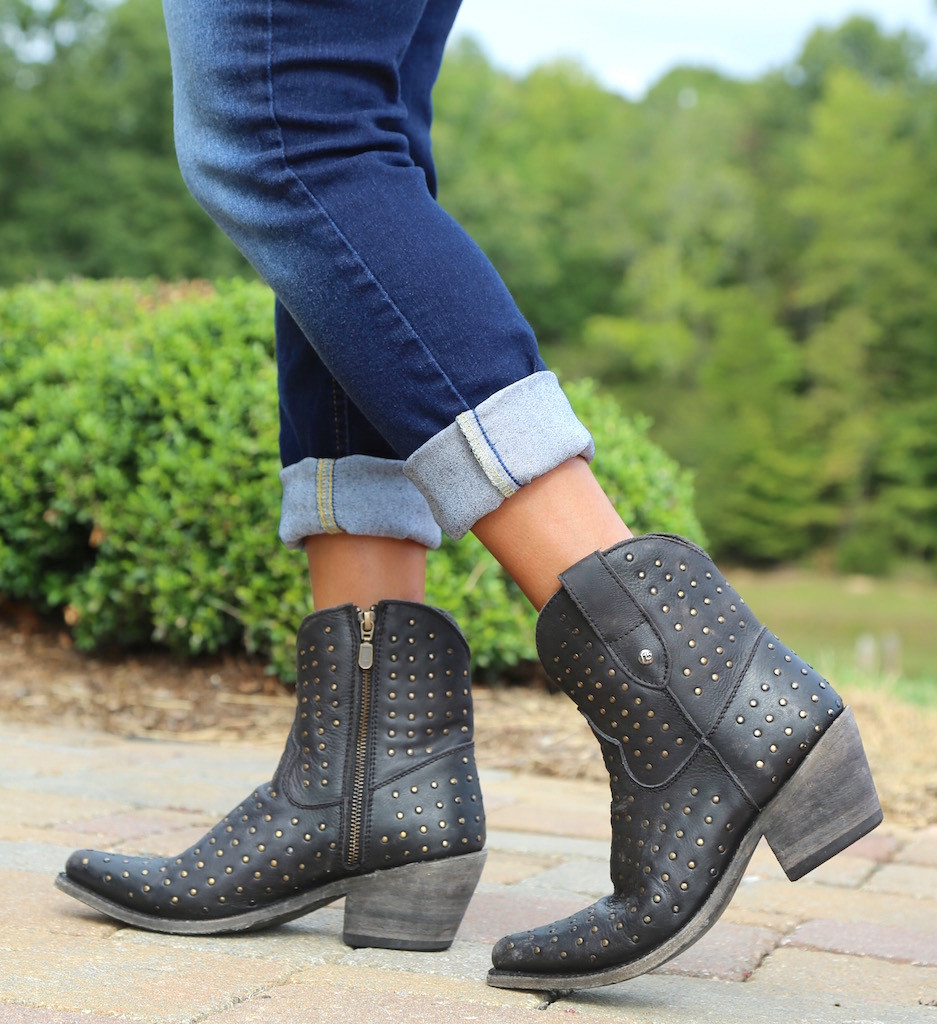 Liberty Black Short Studded Zipper Boot Negro LB711215 Walk
