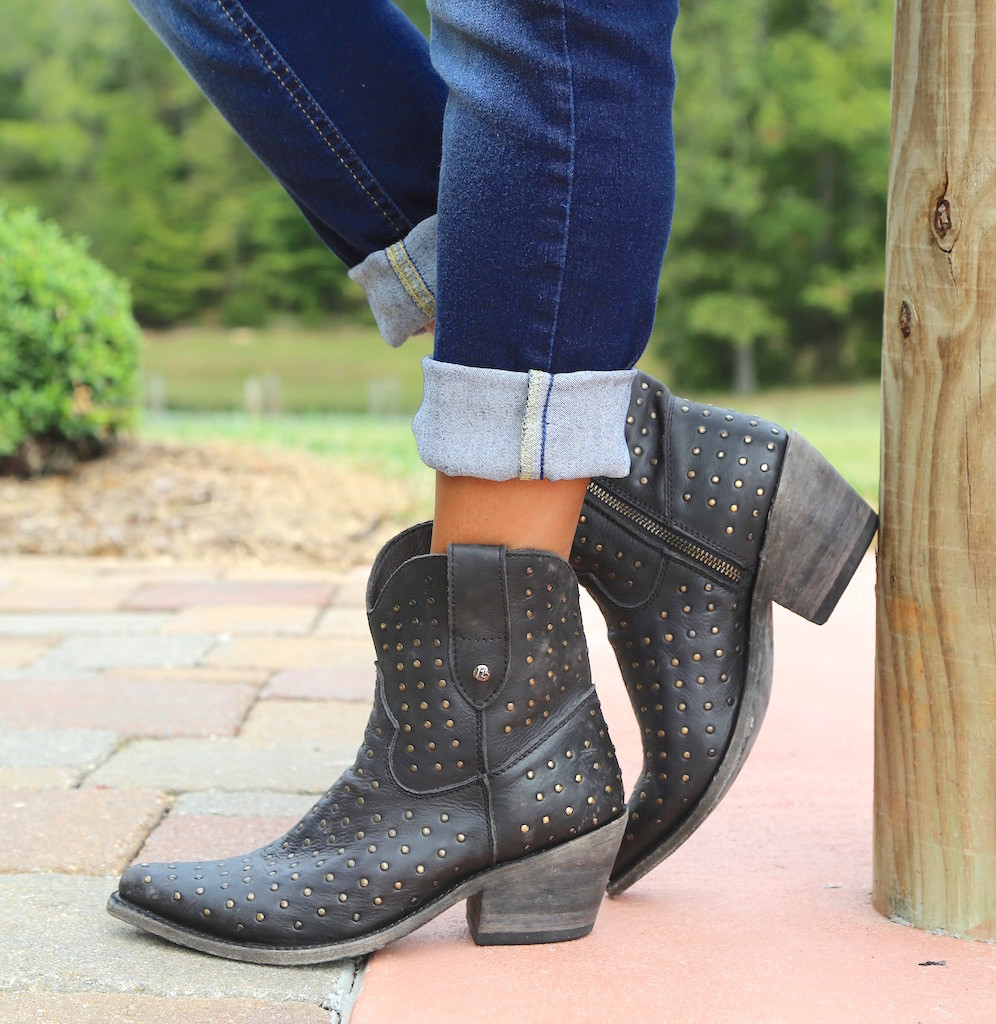 Liberty Black Short Studded Zipper Boot Negro LB711215 Picture