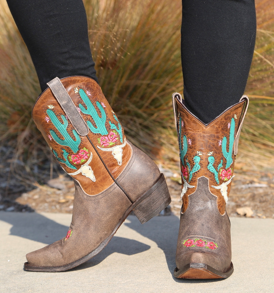 Junk Gypsy by Lane Bramble Rose Boots with Caramel Shaft JG0015C Side
