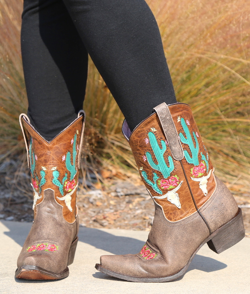Junk Gypsy by Lane Bramble Rose Boots with Caramel Shaft JG0015C Front