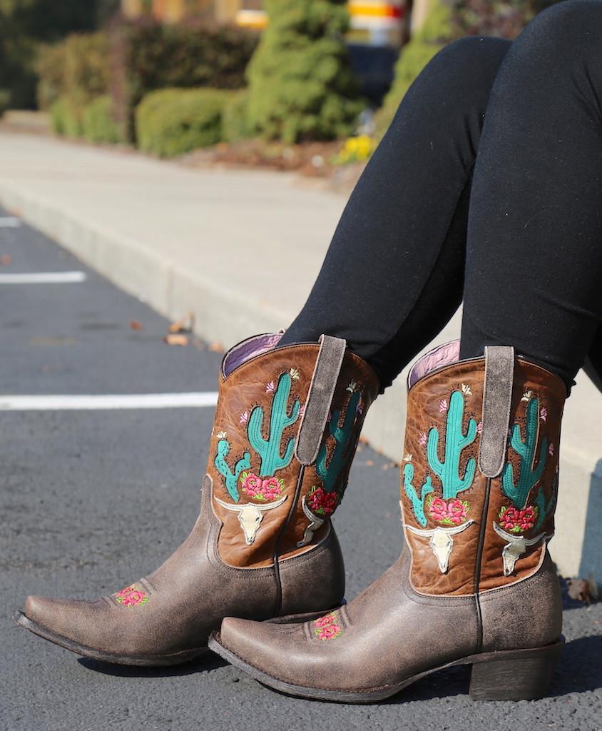 Junk Gypsy by Lane Bramble Rose Boots with Caramel Shaft JG0015C Image