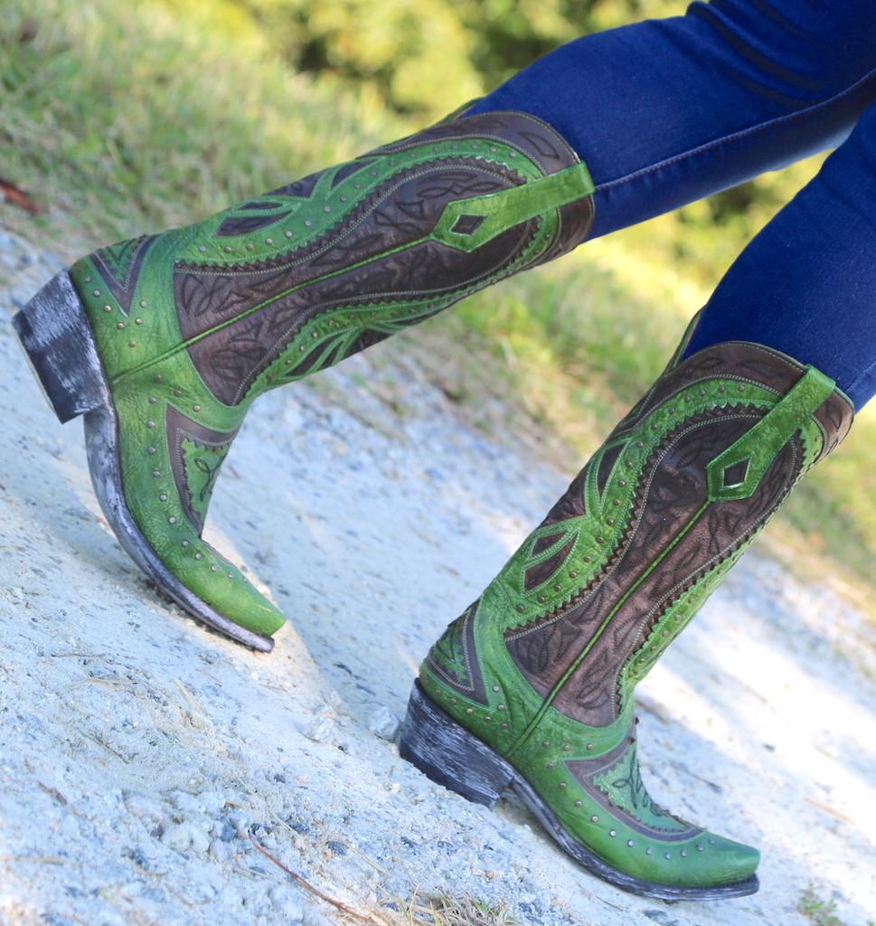 Old Gringo Urbi Green Chocolate Boots L2678-3 Walk